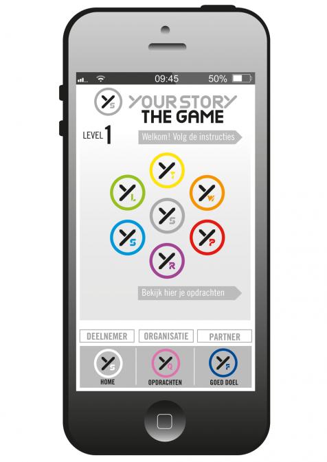 YSTG app impressie mobiel